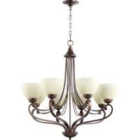 Quorum 6031-8-86 Lariat 8 Light 30 inch Oiled Bronze Chandelier Ceiling Light