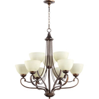 Quorum 6031-9-86 Lariat 9 Light 31 inch Oiled Bronze Chandelier Ceiling Light