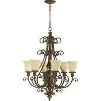 Quorum International Fulton 6 Light Chandelier in Classic Bronze 6032-6-54