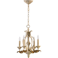Quorum 6037-4-70 Florence 4 Light 16 inch Persian White Mini Chandelier Ceiling Light