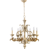 Quorum 6037-6-70 Florence 6 Light 27 inch Persian White Chandelier Ceiling Light