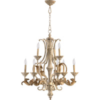 Quorum 6037-9-70 Florence 9 Light 28 inch Persian White Chandelier Ceiling Light