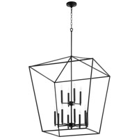 Quorum 604-12-69 Gabriel 12 Light 29 inch Noir Foyer Pendant Ceiling Light, Quorum Home