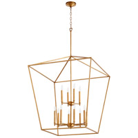 Quorum 604-12-74 Gabriel 12 Light 29 inch Gold Leaf Foyer Pendant Ceiling Light, Quorum Home