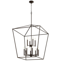 Quorum 604-12-86 Gabriel 12 Light 29 inch Oiled Bronze Foyer Pendant Ceiling Light, Quorum Home