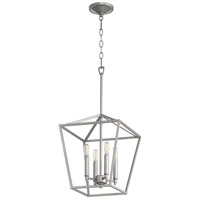 Quorum 604-4-64 Gabriel 4 Light 13 inch Classic Nickel Foyer Pendant Ceiling Light, Quorum Home