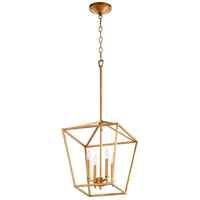 Quorum 604-4-74 Gabriel 4 Light 13 inch Gold Leaf Foyer Pendant Ceiling Light, Quorum Home