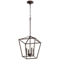 Quorum 604-4-86 Gabriel 4 Light 13 inch Oiled Bronze Foyer Pendant Ceiling Light, Quorum Home