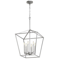 Quorum 604-6-64 Gabriel 6 Light 17 inch Classic Nickel Foyer Pendant Ceiling Light, Quorum Home