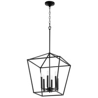 Quorum 604-6-69 Gabriel 6 Light 17 inch Noir Foyer Pendant Ceiling Light, Quorum Home