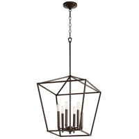 Quorum 604-6-86 Gabriel 6 Light 17 inch Oiled Bronze Foyer Pendant Ceiling Light, Quorum Home