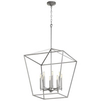 Quorum 604-8-64 Gabriel 8 Light 22 inch Classic Nickel Foyer Pendant Ceiling Light, Quorum Home
