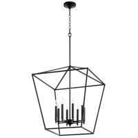 Quorum 604-8-69 Gabriel 8 Light 22 inch Noir Foyer Pendant Ceiling Light, Quorum Home