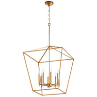 Quorum 604-8-74 Gabriel 8 Light 22 inch Gold Leaf Foyer Pendant Ceiling Light, Quorum Home