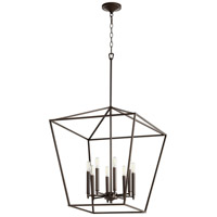 Quorum 604-8-86 Gabriel 8 Light 22 inch Oiled Bronze Foyer Pendant Ceiling Light, Quorum Home