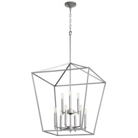 Quorum 604-9-64 Gabriel 9 Light 24 inch Classic Nickel Foyer Pendant Ceiling Light, Quorum Home