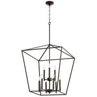 Quorum 604-9-86 Gabriel 9 Light 24 inch Oiled Bronze Foyer Pendant Ceiling Light Quorum Home