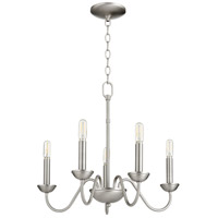 Quorum 6040-5-65 Signature 5 Light 20 inch Satin Nickel Chandelier Ceiling Light, Quorum Home