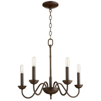 Quorum 6040-5-86 Signature 5 Light 20 inch Oiled Bronze Chandelier Ceiling Light, Quorum Home