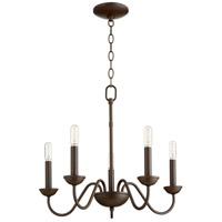 Quorum 6040-5-86 Signature 5 Light 20 inch Oiled Bronze Chandelier Ceiling Light Quorum Home