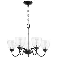 Quorum 6041-5-69 Signature 5 Light 23 inch Noir Chandelier Ceiling Light, Quorum Home