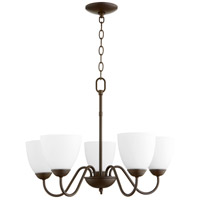 Quorum 6041-5-86 Signature 5 Light 23 inch Oiled Bronze Chandelier Ceiling Light, Quorum Home