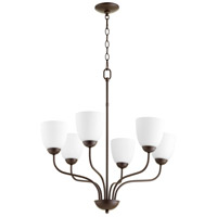 Quorum 6041-6-86 Fort Worth 6 Light 25 inch Oiled Bronze Chandelier Ceiling Light, Quorum Home
