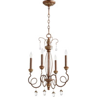 Quorum 6044-4-39 Venice 4 Light 17 inch Vintage Copper Chandelier Ceiling Light