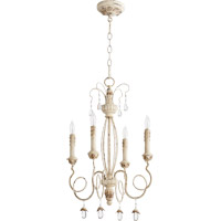 Quorum Venice 4 Light Chandelier in Persian White 6044-4-70