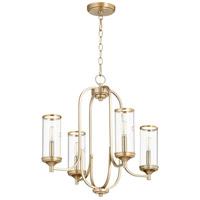 Quorum 6044-4-80 Collins 4 Light 22 inch Aged Brass Chandelier Ceiling Light