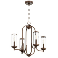 Quorum 6044-4-86 Collins 4 Light 22 inch Oiled Bronze Chandelier Ceiling Light
