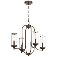 Quorum 6044-4-86 Collins 4 Light 22 inch Oiled Bronze Chandelier Ceiling Light