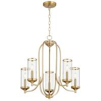 Quorum 6044-5-80 Collins 5 Light 25 inch Aged Brass Chandelier Ceiling Light