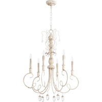 Quorum Venice 6 Light Chandelier in Persian White 6044-6-70