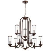 Quorum 6044-9-86 Collins 9 Light 30 inch Oiled Bronze Chandelier Ceiling Light