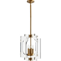 Quorum 605-4-80 Broadway 4 Light 15 inch Aged Brass Pendant Ceiling Light