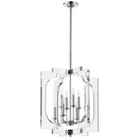 Broadway 8 Light 21 inch Polished Nickel Pendant Ceiling Light