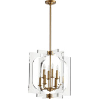 Quorum 605-8-80 Broadway 8 Light 21 inch Aged Brass Pendant Ceiling Light