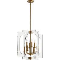 Quorum 605-8-80 Broadway 8 Light 21 inch Aged Brass Pendant Ceiling Light
