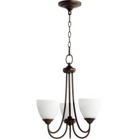Quorum 6050-3-86 Brooks 3 Light 19 inch Oiled Bronze Chandelier Ceiling Light