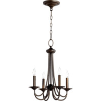 Quorum 6050-4-86 Brooks 4 Light 17 inch Oiled Bronze Chandelier Ceiling Light