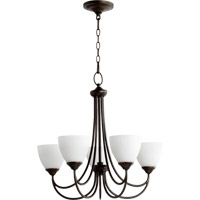 Quorum 6050-5-86 Brooks 5 Light 26 inch Oiled Bronze Chandelier Ceiling Light