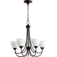 Quorum 6050-5-86 Brooks 5 Light 26 inch Oiled Bronze Chandelier Ceiling Light
