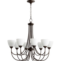 Quorum 6050-8-86 Brooks 8 Light 32 inch Oiled Bronze Chandelier Ceiling Light