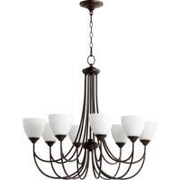 Quorum 6050-8-86 Brooks 8 Light 32 inch Oiled Bronze Chandelier Ceiling Light