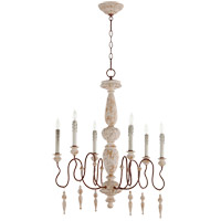 Quorum 6052-6-156 La Maison 6 Light 26 inch Manchester Grey with Rust Accents Chandelier Ceiling Light