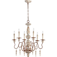 La Maison 6 Light 26 inch Manchester Grey with Rust Accents Chandelier Ceiling Light