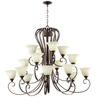 Quorum International Celesta 16 Light Chandelier in Oiled Bronze 6053-16-86