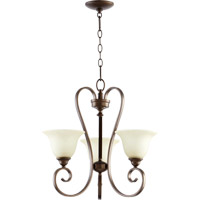 Quorum 6053-3-86 Celesta 3 Light 21 inch Oiled Bronze Chandelier Ceiling Light in Amber Scavo