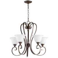 Celesta 26 inch Oiled Bronze Chandelier Ceiling Light in Satin Opal, Satin Opal